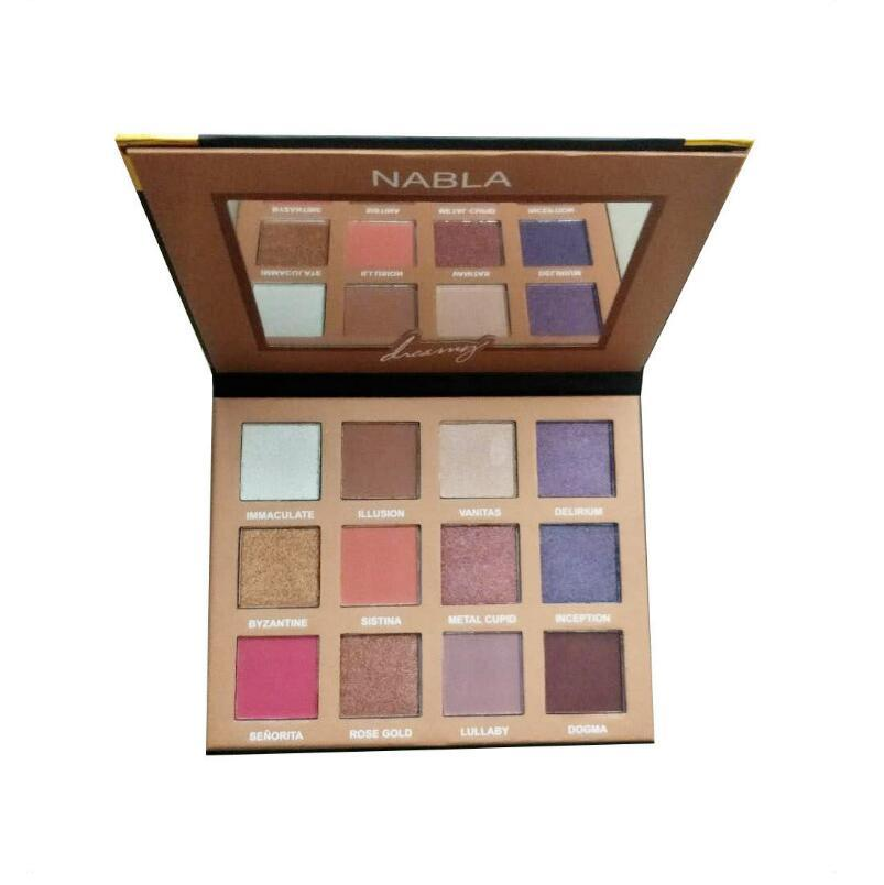 New Arrival makeup nabla Dreamy Eyeshadow palette 12 color Eyeshadow palettes DHL Free shipping