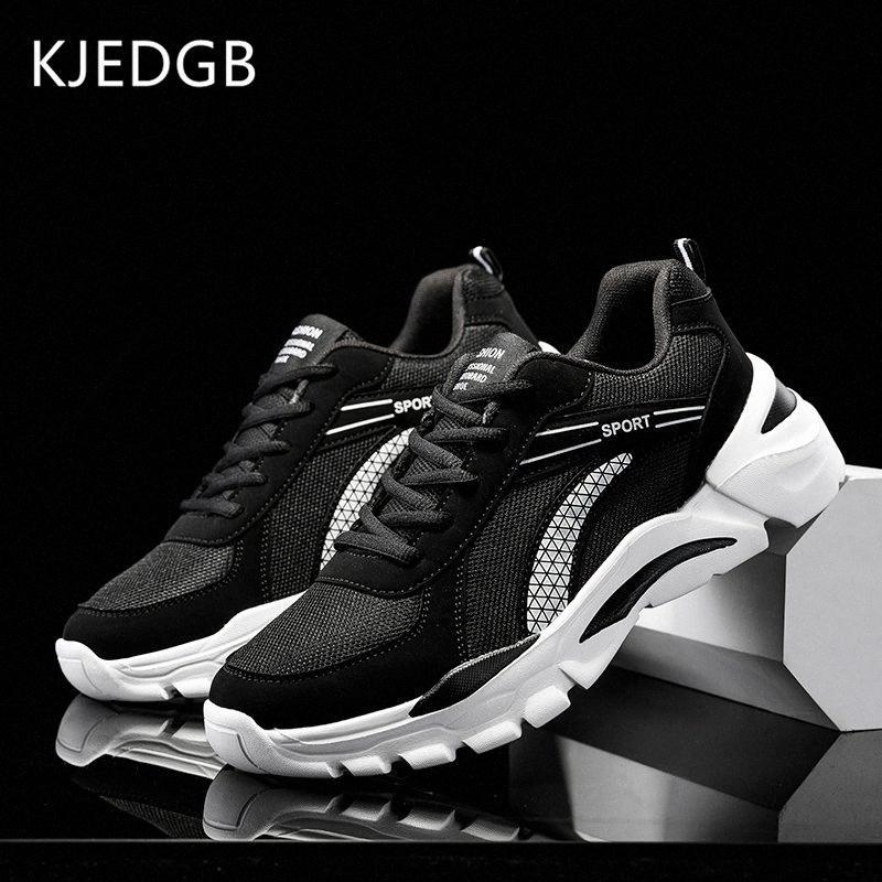 KJEDGB 2020 Scarpe uomo casual traspirante Sneakers Uomo Mesh traspirante Maschio scarpe per adulti Bianco Zapatos De Hombre Plus Size 39 47 Bianco Sh PqKr #