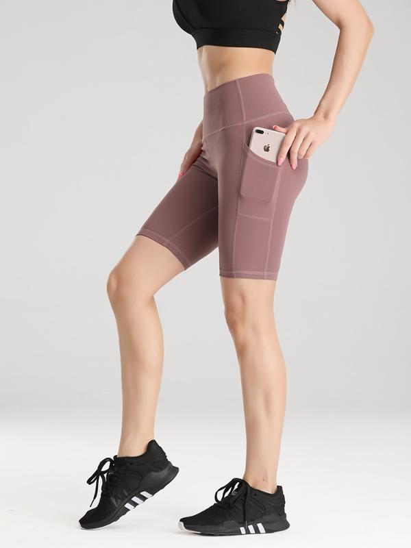 De secado rápido pantalones de la rodilla yoga de la aptitud Deportes Mujeres ejercicio de entrenamiento Pantalones cortos Running pantalón de entrenamiento Gimnasio Medias Leggings