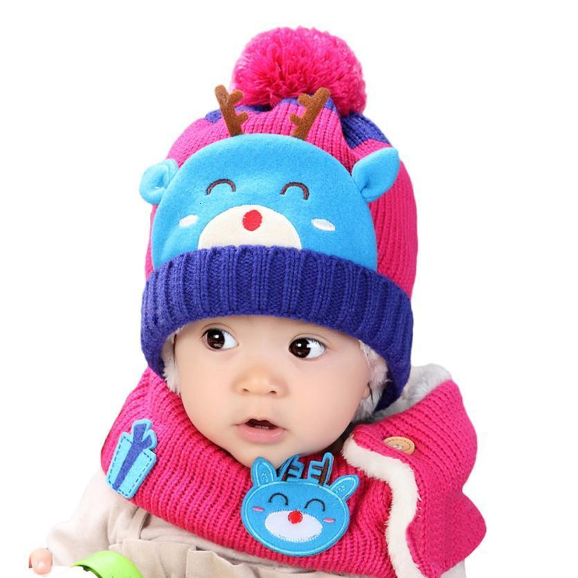 5 colors Baby Toddler Kids Boy Girl Knitted Children's Lovely Spire Soft Hat+Scarf Colorful livelyAugust 13 Deals