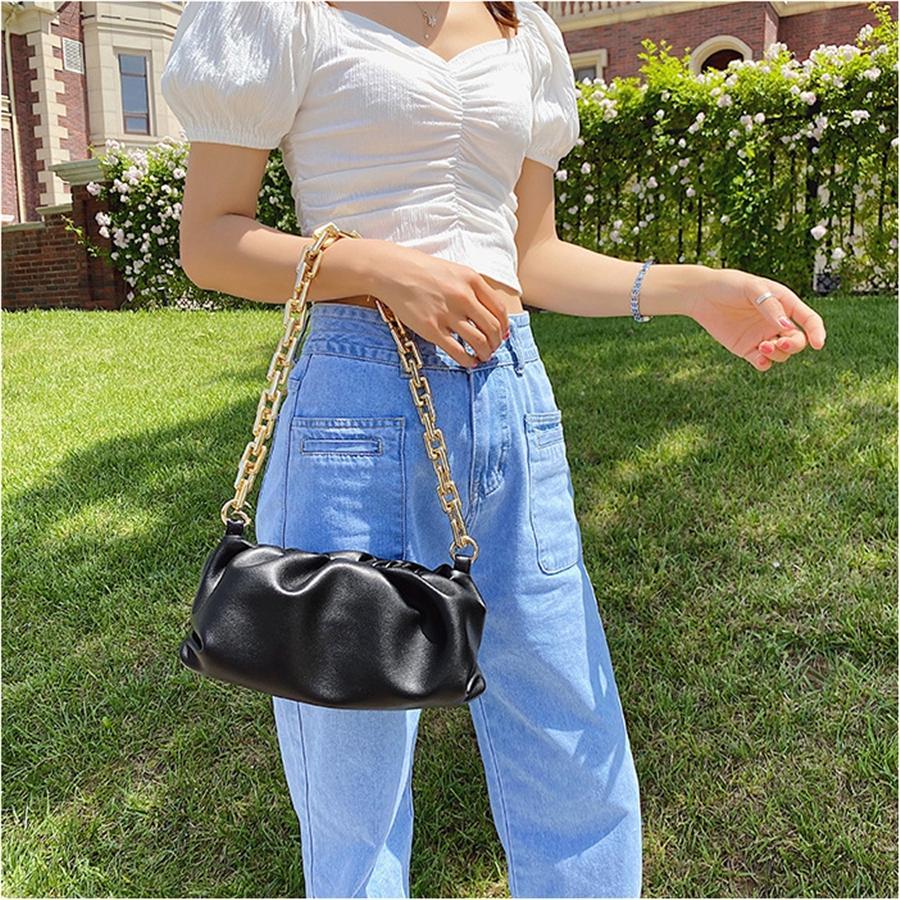 Bolsas de cuero nuevos bolsos de mensajero de las mujeres totalizador grande MICHAEL HOMBRO bolsa de embrague bolsa de la nube # 930