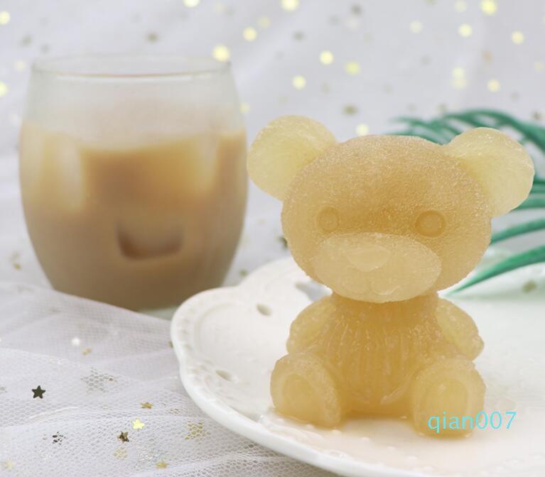Baby Bear Ice Moules Silicone bonbons Fabrication de moules en silicone Moule Fondant Moules gâteau Décoration Artisanat Art Artisanat Savon silicone Moule Moisissures HWB1094