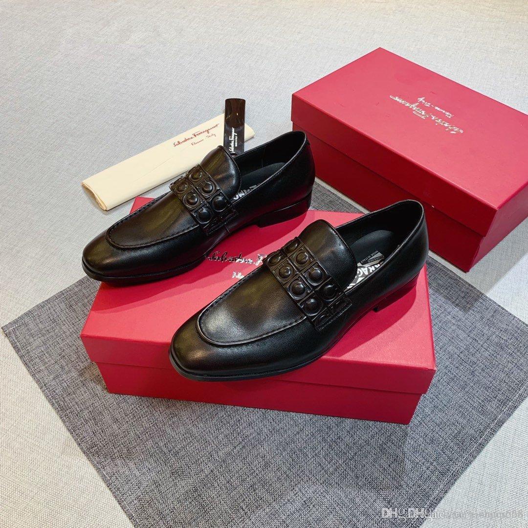 2020 новых людей вскользь кожаные ботинки, модно высокое качество, удобный и универсальный мужской shoesAA