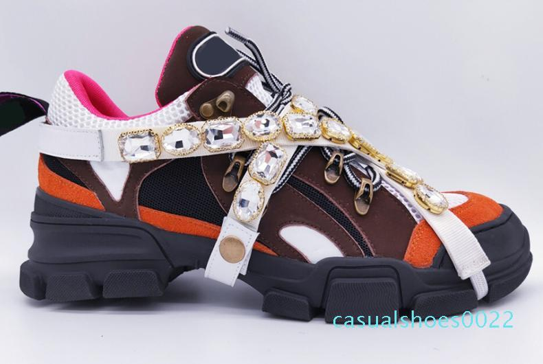 Üst Kalite Zincir Reaksiyonu Lüks Tasarımcılar Ayakkabılar Çift Yeni Moda Trend spor ayakkabıları erkekler ayakkabılar Boyut 35-45 C22 womens