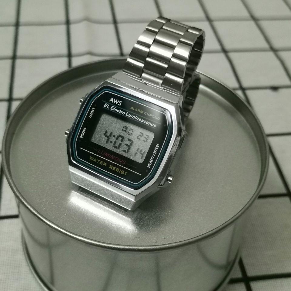 Ver A168 El mismo tipo para el movimiento de Japón F91 A159W Watch Fasion Watch Venta caliente