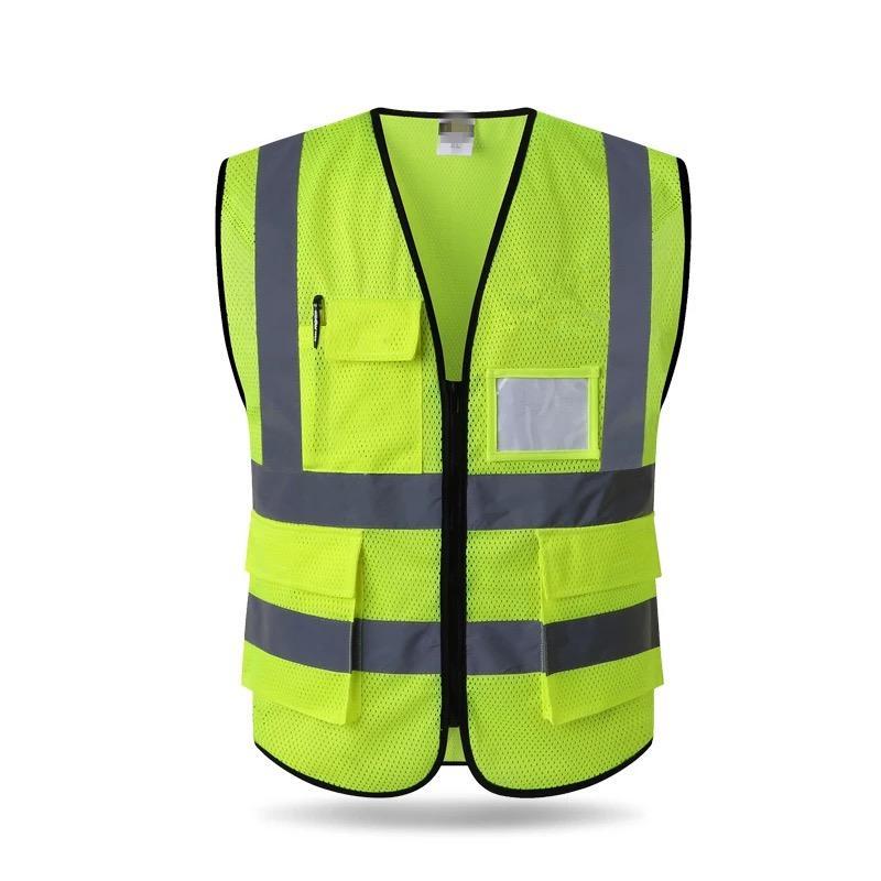Yüksek Görünürlük Reflektif Yelek Reflektif Yelek Çoklu İş Kıyafetleri Güvenlik Yelek Ücretsiz Kargo Fabrika doğrudan Cepler