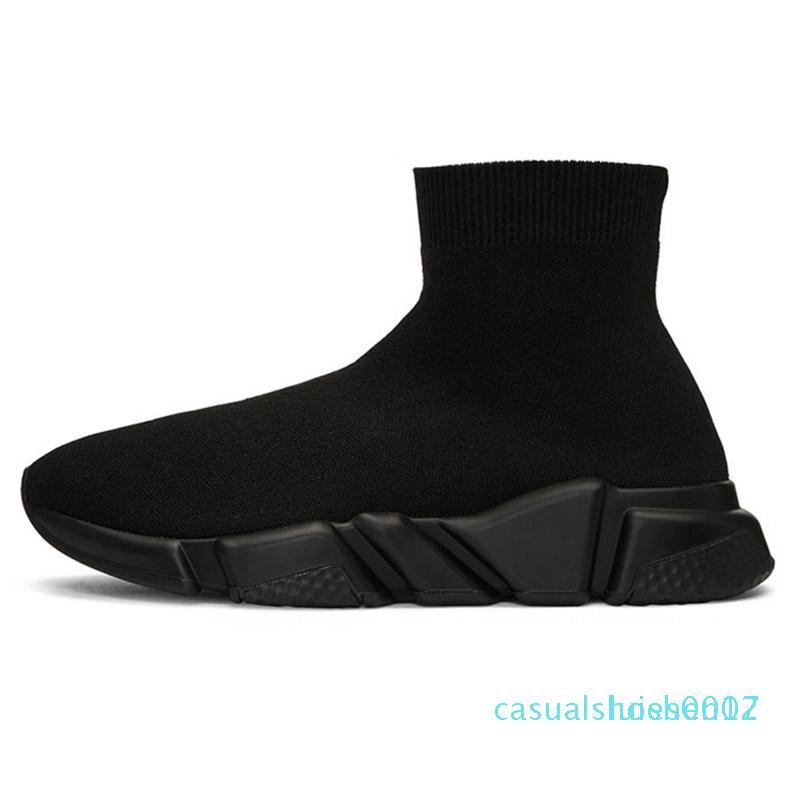 formatori Tripler Nero allenatore di lusso velocità stilista delle scarpe delle donne casuali di scintillio di marca Sneakers stivali corridori mens calzino del pattino C17