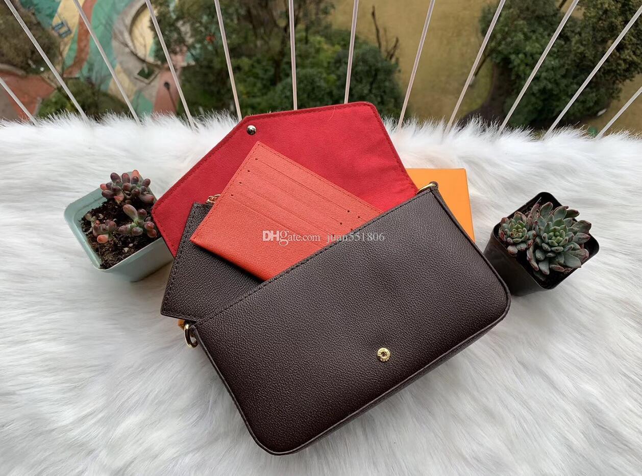 2021 estilo e mulheres luxurys novo saco de bolsa de 3 peças designers crossbody cadeia bolsas de ombro conjunto bolsa de bolsa Novo estilo EDEDA