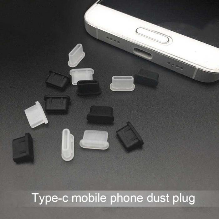 cgjxsFor Huawei P10 Samsung S10 S9 S8 Silikon-Abdeckung USB-Typ-C-Port Anti Staub-Stecker-Schutz für Xiaomi Huawei Lg HTC-Staub-Stecker