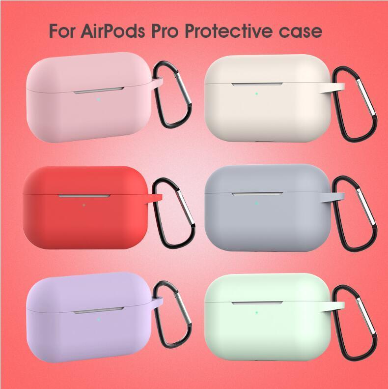 2020 para Apple Cases Airpods silicone suave Ultrafino Protector AIRPod Tampa Earpod Caso Anti-drop Airpods Casos pro envio gratuito