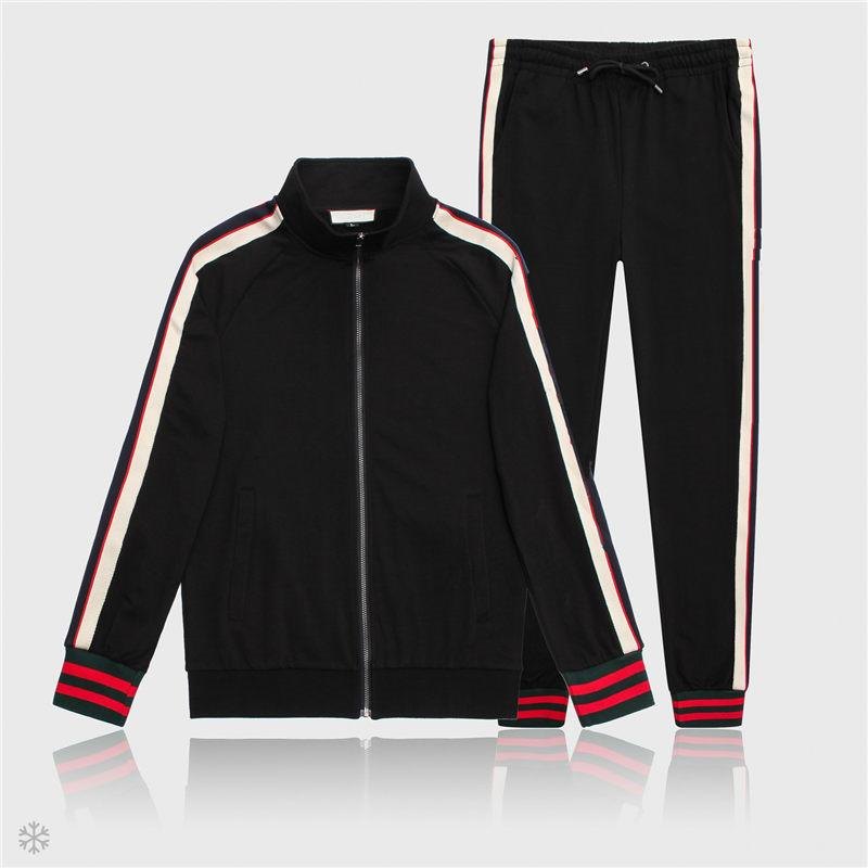 Mens giacche e pantaloni Moda Sport Felpa progettista di marca casual autunno Zipper giacca e pantaloni lunghi M-3XL
