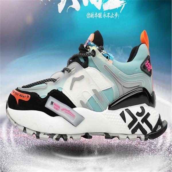Zapatos Par transpirable zapatos ocasionales de los deportes de los nuevos hombres zapatillas de deporte con cordones de colores del color de tendencia