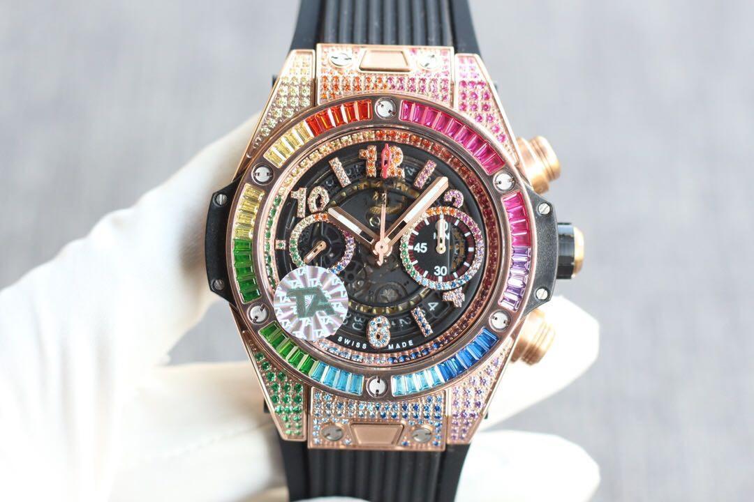 В 2020 году, высококачественный 45mm мужские часы с резинкой, снабженном 1242 автоматического механического движения водонепроницаемый наручные часы