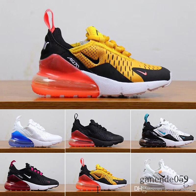 nike air max 270 270s 27c airmax Bambini bambino di alta qualità Athletic Shoes Bambini Designer Shoes Sneakers lupo grigio del bambino di sport per i ragazzi della neonata Pour