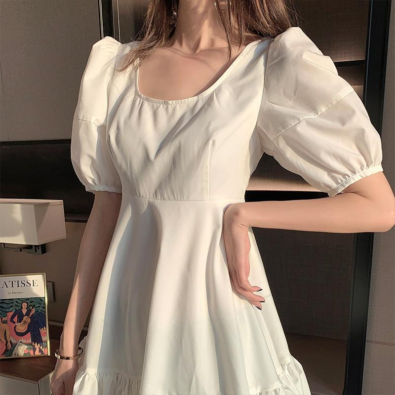 MHCPZ A8rGa рукав пузырь рукав в складку для весны 2020 Нового пузыря для гофрированной Нового платья платья весны 2020