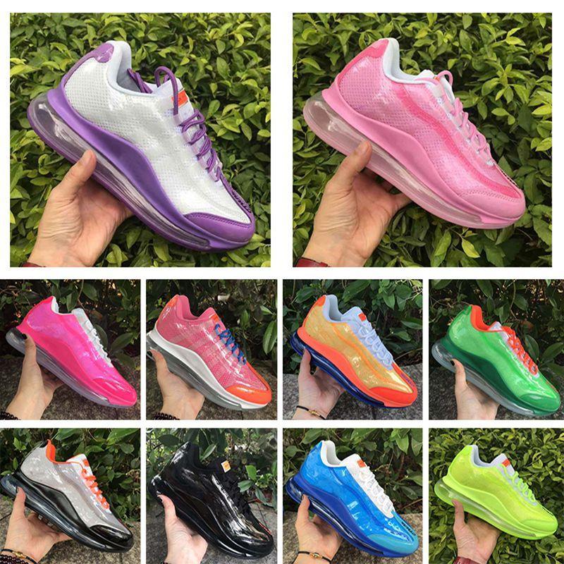 Yeni 720 çalışma yarar 72C erkek ayakkabı tasarımcısı erkek spor hava 360 zapatos spor ayakkabısı siyah beyaz, kırmızı gök mavisi turuncu spor ayakkabıları 36-45