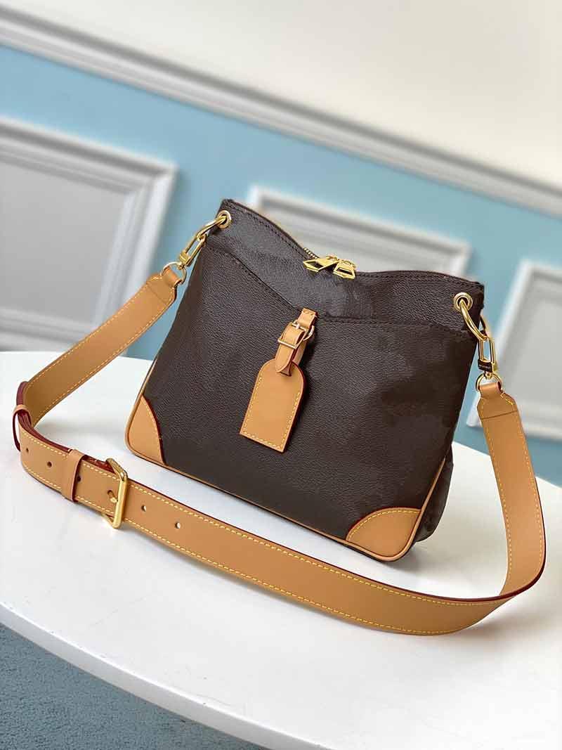 Frauen Damen Leder Handtaschen Odeon M45355 Totes Mode Qualität Top Bag Blume Muster Echte Geldbörsen 2021 Neue L Umhängetaschen Stil SPGTD
