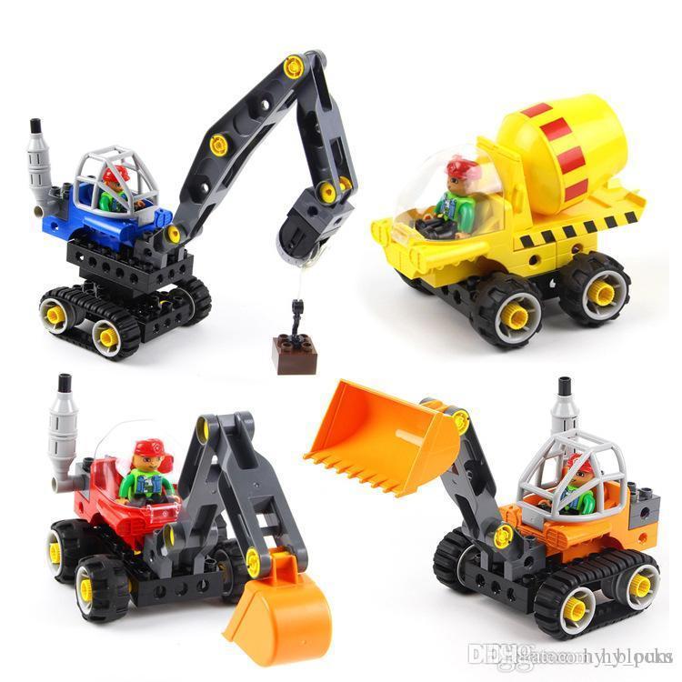Çocuklar montaj erkek istihbarat hediye 02 bina blokları oyuncak Makine mühendisliği araba serisi ekleyerek büyük parçacık DIY puzzle