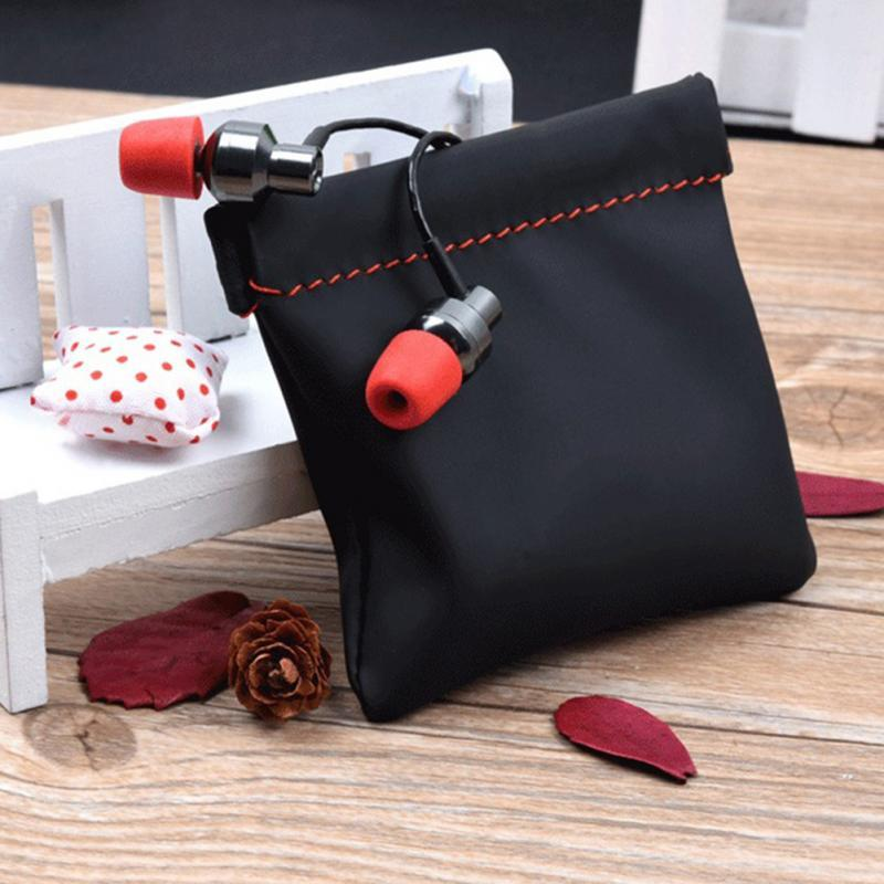 Mini-écouteurs Bluetooth étanche Sac de haute qualité en cuir PU anti-chute antichocs Mini sac antipoussière Portable Small Things Keeper