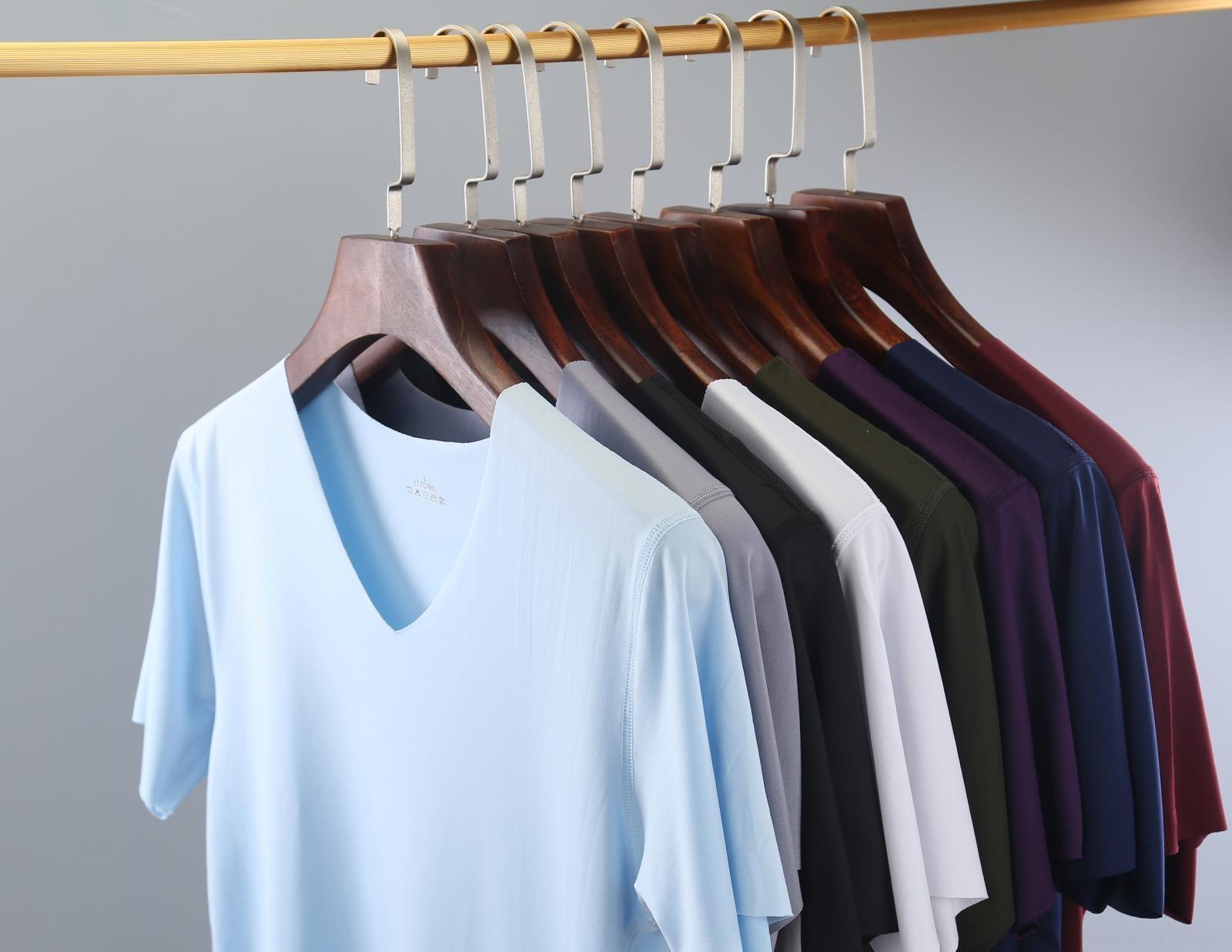 Nuovo autunno Lycra senza soluzione di continuità su ghiaccio di seta vestiti vestiti casa arredamento abbigliamento ghiaccio freddo ZX9pD homewear maschile senza soluzione di continuità manica corta