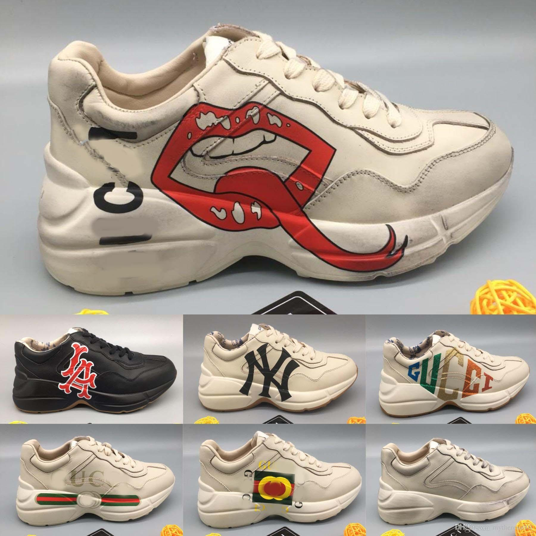High Quality Real Leather Sneakers High