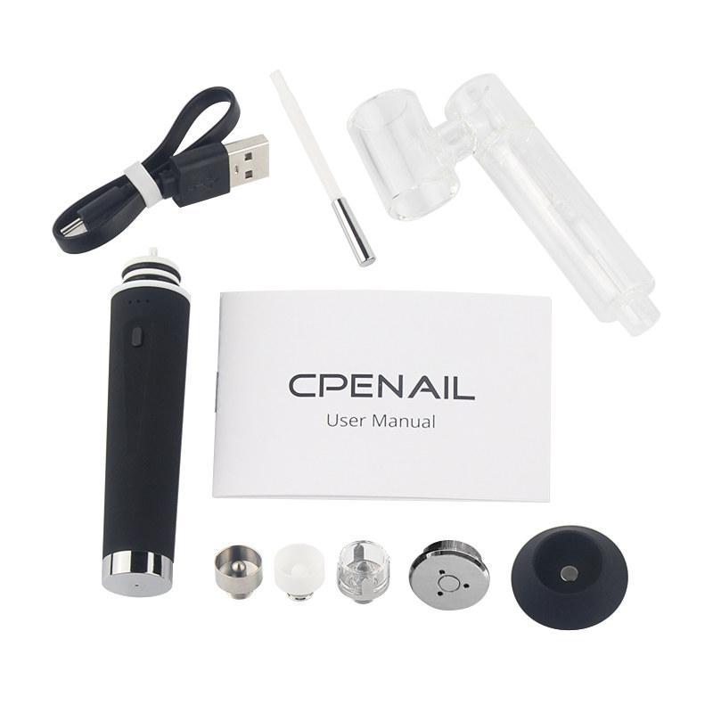 PENAIL Başlangıç Seti Enail Wax Vaporizer Vape Pen'in 3adet Titanyum Seramik Kuvars Wax Atomizer Dab Rig Cam Bong