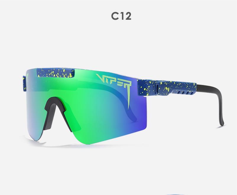 Büyük Boy Mor Aynalı Güneş Gözlüğü Erkek Spor Koruma Pit engerek UV400 gözlük ayarlanabilir TR90 çerçeve polarize