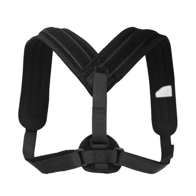 Unisex Uomo Donna regolabile correttore di posizione posteriore del corsetto di sostegno della spalla Brace Belt