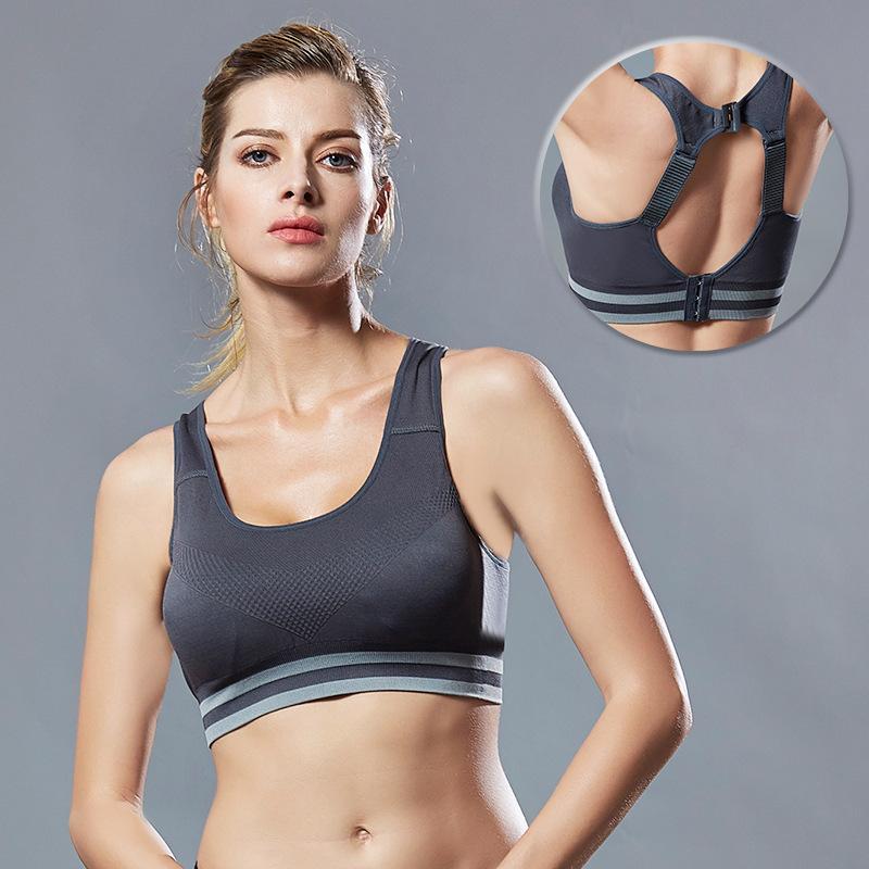 Nueva absorbedor de descompresión sujetador de los deportes Anti-caída del hombro Ajuste de la correa de la ropa interior belleza de la aptitud Volver gimnasia yoga sujetador