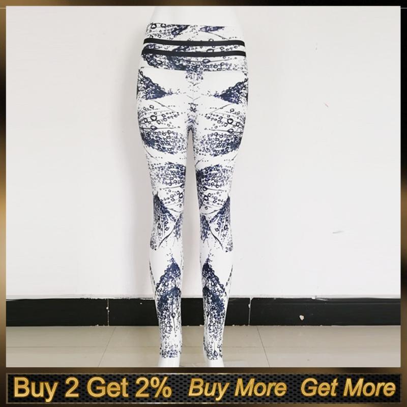 2020 Sport-Hose-Frauen Printed Hoch Taillengamaschen Sport Frauen Fitness Hip Stretch Unterhos Jogging Fitness Yoga Pants