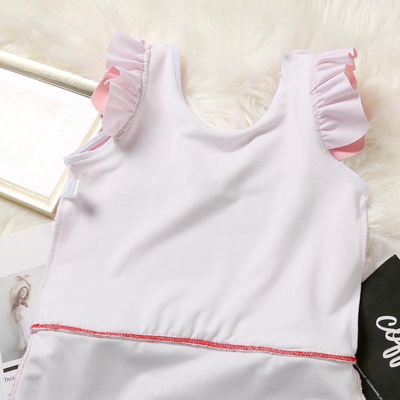 RiwLk BdgCR ins meninas maiô à prova de sol swimsuit de uma peça bonito crianças swimwear breifs swimwear princesa bebê coreano Crianças