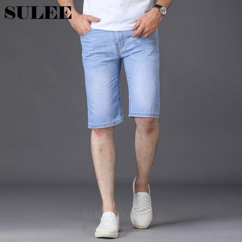 Pantalones vaqueros para hombres Venta de verano Casual Casual Corto Homme de Marque 2021 Coreano Juvenil para hombre Denim Shorts Elasticity Engañados Hombres flacos
