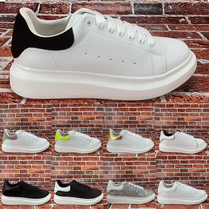 En yansıtıcı platformu erkekler kadınlar rahat ayakkabı siyah beyaz çok renkli kuyruk gümüş Payet lazer kireç Sneakers ABD 6-11 mens kırmızı yansıtmak