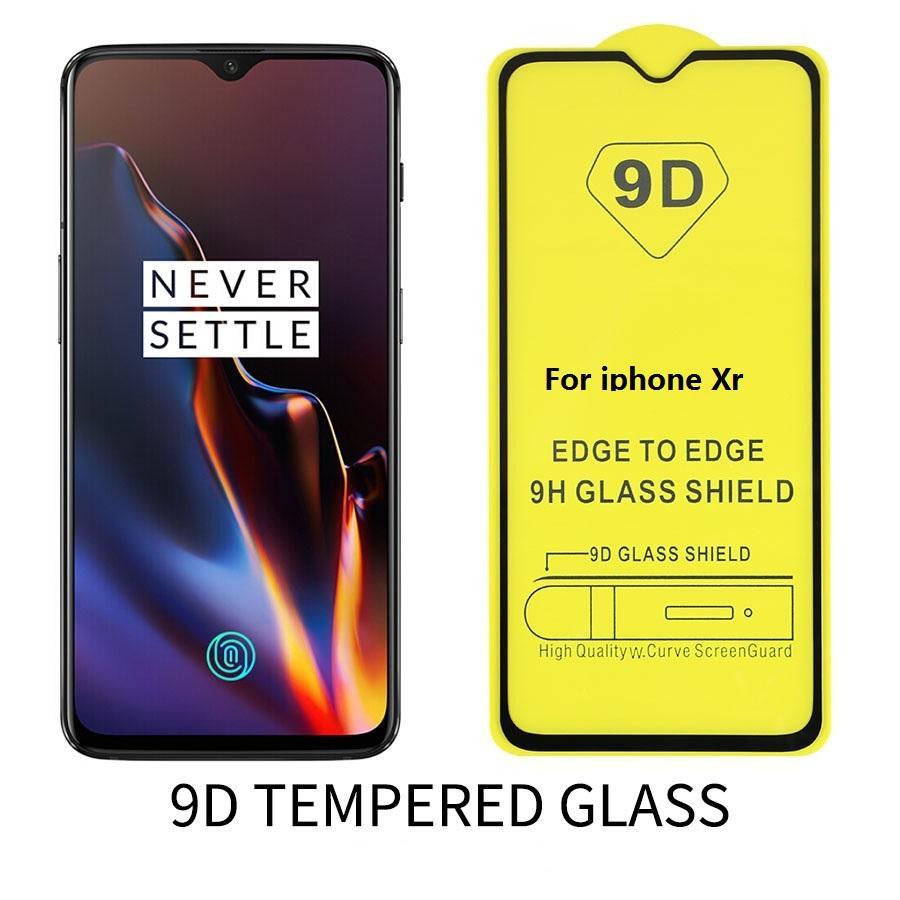 9D Tam Kapak temperli cam Gözlük Ekran Koruyucu için iphone X XS XR MAX 8 7 6 artı