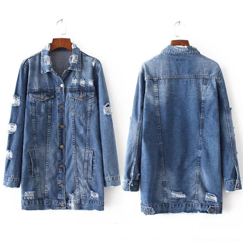VFr8M denim casaco de mangas compridas denim casaco de mangas compridas mulheres casuais das mulheres casuais