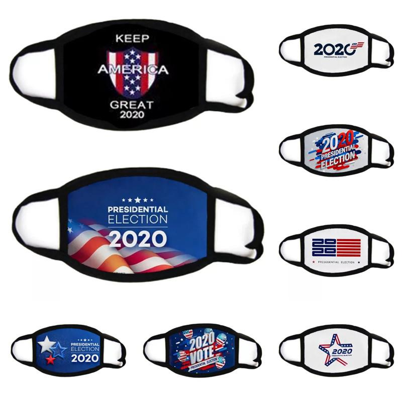 Maschere DHL 2020 Votazione Presidente Elezione anti-polvere di cotone fronte della bandierina panno USA Maschera Unisex per Mask ciclismo femminile Men
