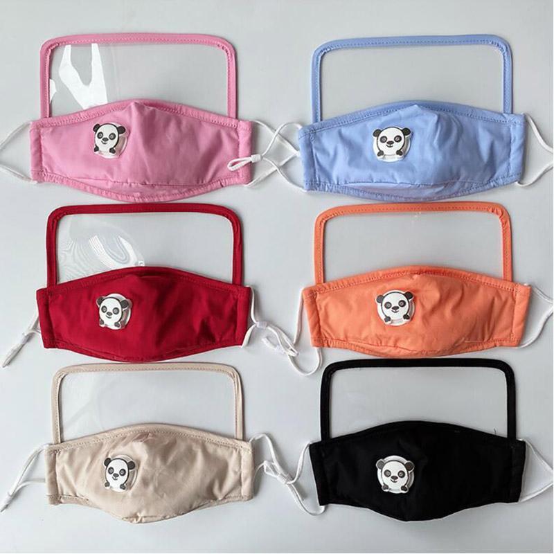 Del fumetto Occhiali Mask Solid maschere colori personalizzati bambini di protezione esterna di protezione di sicurezza lavabile con maschere Filtri