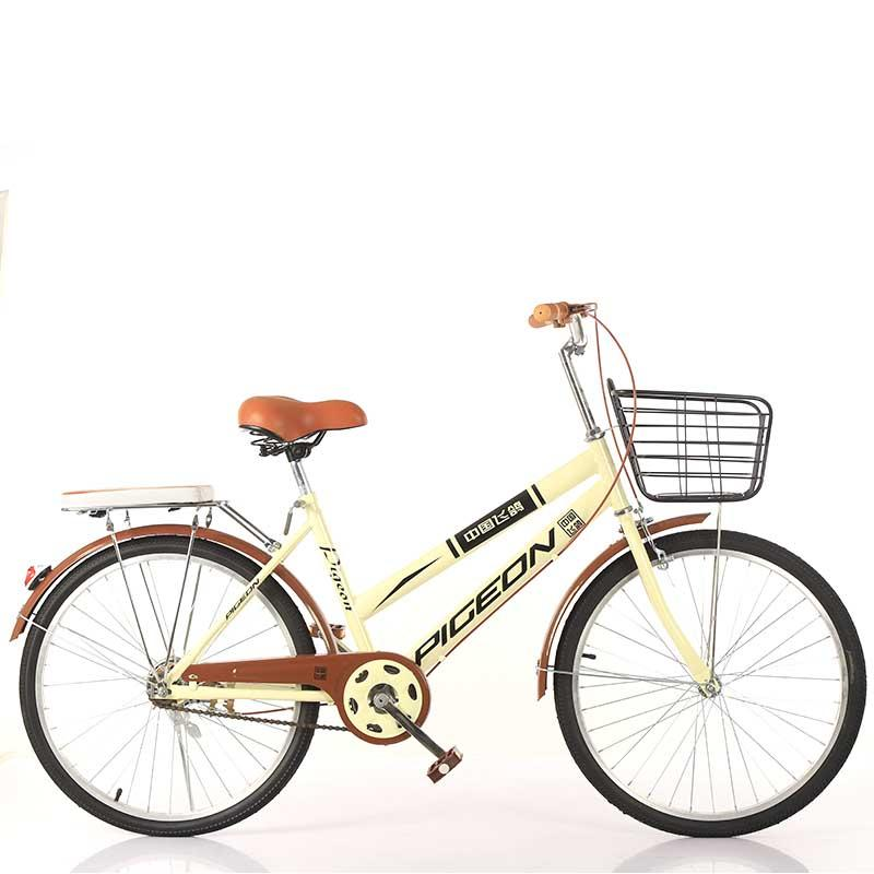 2020Bicycle adult bicycle two-seater 22 inch 24-26 inch men and women commuter riding ordinary single speed bicycle