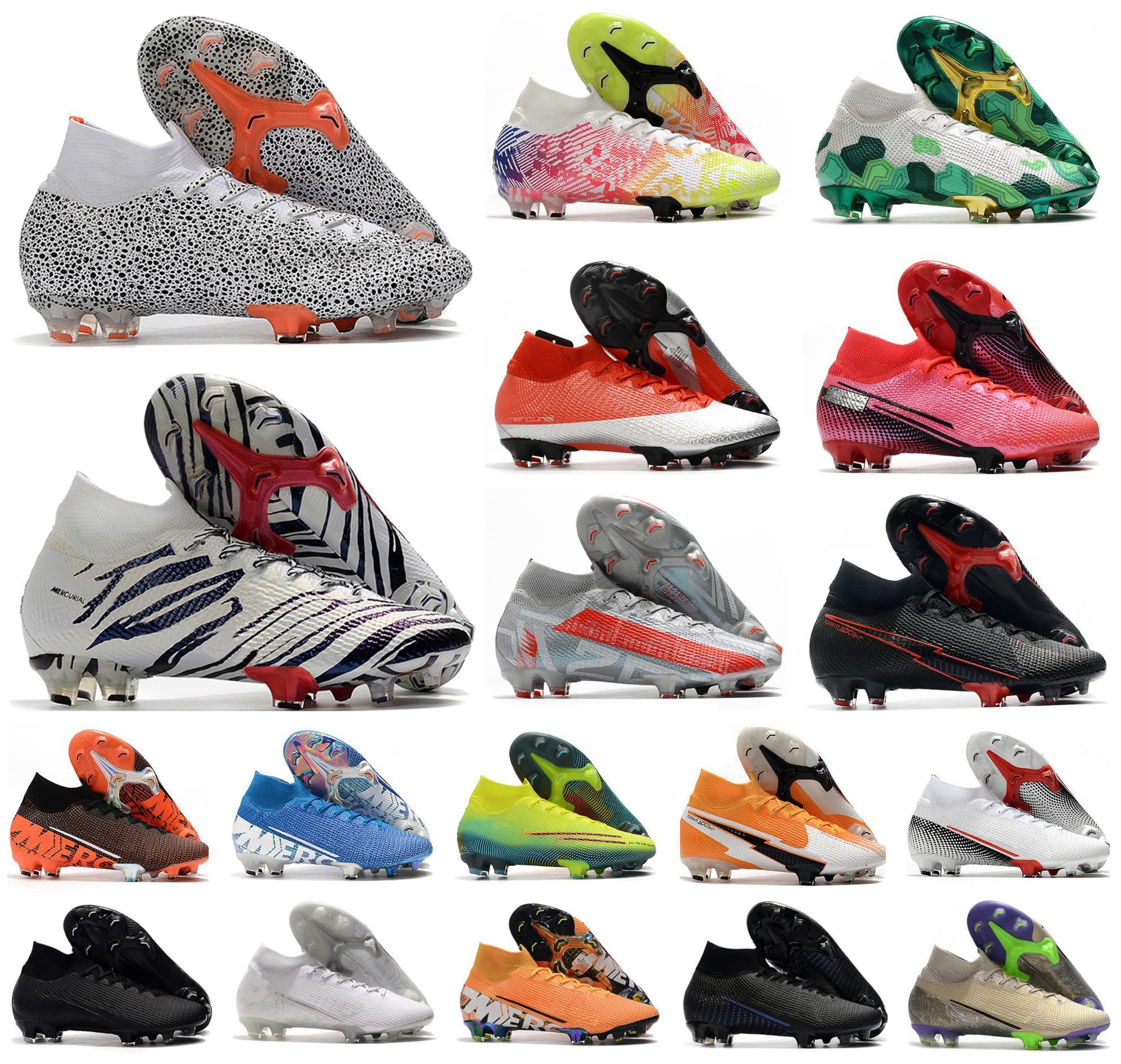 زئبقي ال superfly السابع 7 360 النخبة SE FG CR7 SAFARI رونالدو نيمار NJR بويز رجالي أحذية كرة القدم أحذية كرة القدم المرابط US3-11