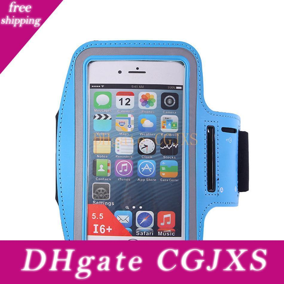 """Running Armband Mobile Phone Holder 5.5/"""" For iPhone X 11  Strap Jogging Gym Blue"""