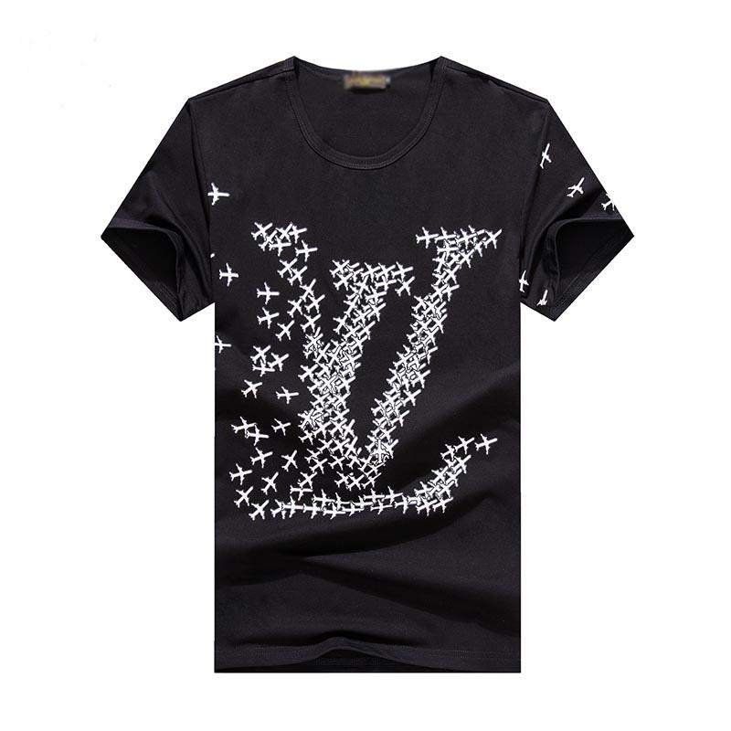 Hombres de diseno t camisas del diseñador de moda para hombre de la ropa ocasional del verano de Calle diseñador de la camiseta del remache Mezcla del algodón de cuello redondo Sh