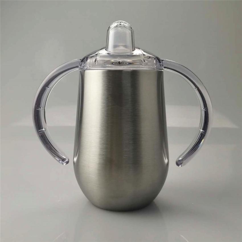 Bottle 10 oz Sippy Cup bebê com alça Garrafa de aço inoxidável Tumbler isolamento de água parede dupla vácuo Crianças Cup com BPA Bico A02