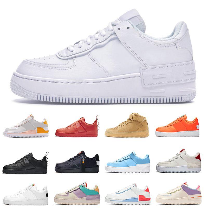 air force 1 af1 hommes vente chaude chaussures de sport Ombre Triple Blanc Vert Beige pâle Utilitaire Ivoire Cotton Candy Spruce Aura Hommes rabais femmes chaussures de sport