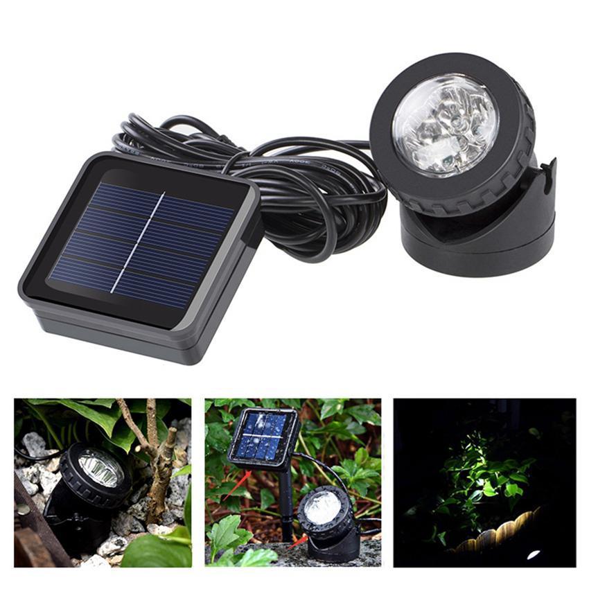 Su geçirmez Güneş Enerjili Lamba LED Bahçe Spotlight Spot Işık Oto Açık Havuz Gölet Açık Led Yard Işık Lambalar LJJZ434