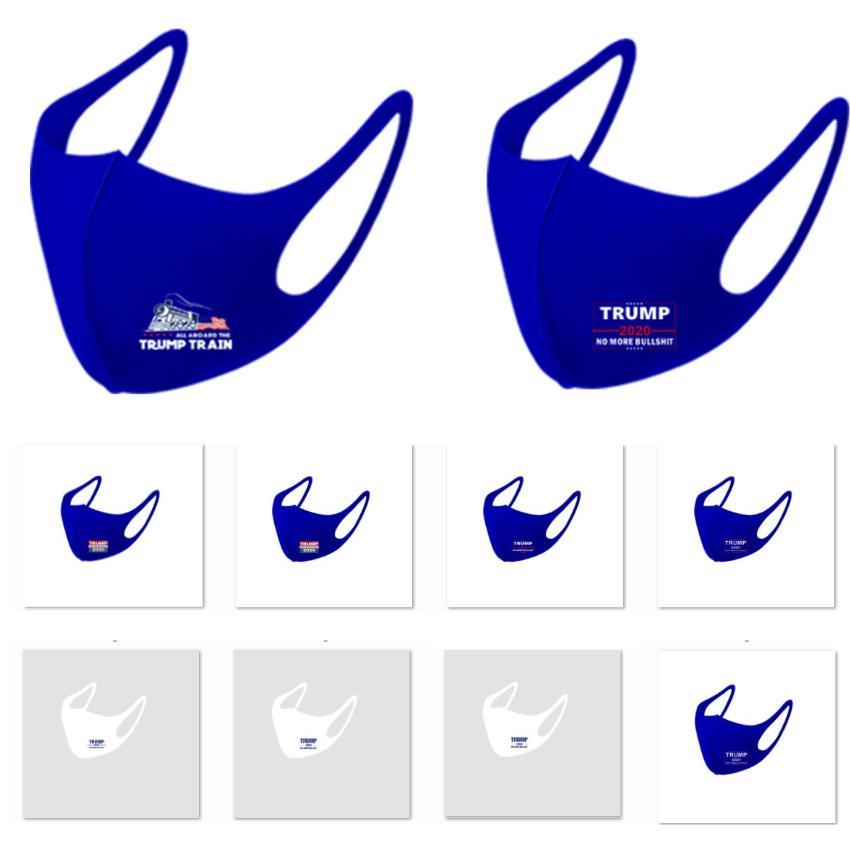 3D Baskı Trump 2020 Maske Windproof Buz Sick Ağız Maskeleri Yetişkin Amerikan Seçim Amerika Birleşik Devletleri Mavi HH9-3225 Maskesi