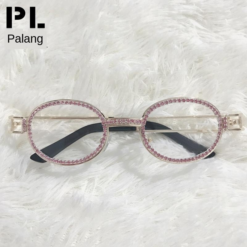 2019 soleil rond steampunk petit ovale lunettes de soleil strass lunettes forage manuel soleil vHDdq