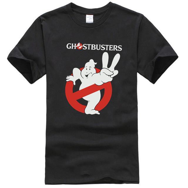 Ghostbusters Ii 2 Unisex Black Футболка ретро Урожай подарков Женщины Мужчины Tee
