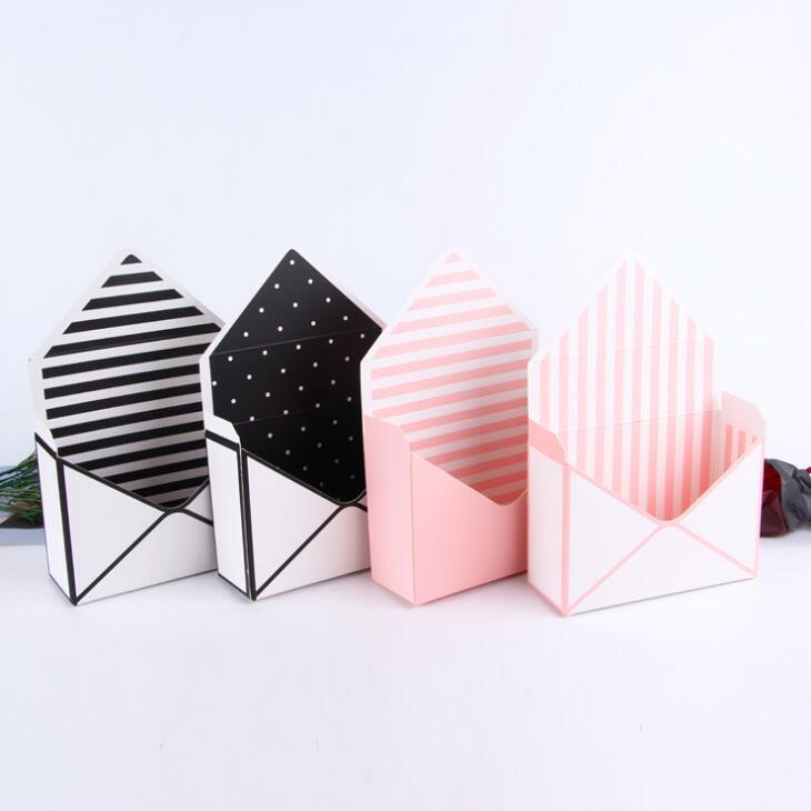 Creative cartone bianco avvolge pieghevole fiori ecologici confezione regalo fiore del sapone imballaggio di Natale di cartone BWF911 rosa