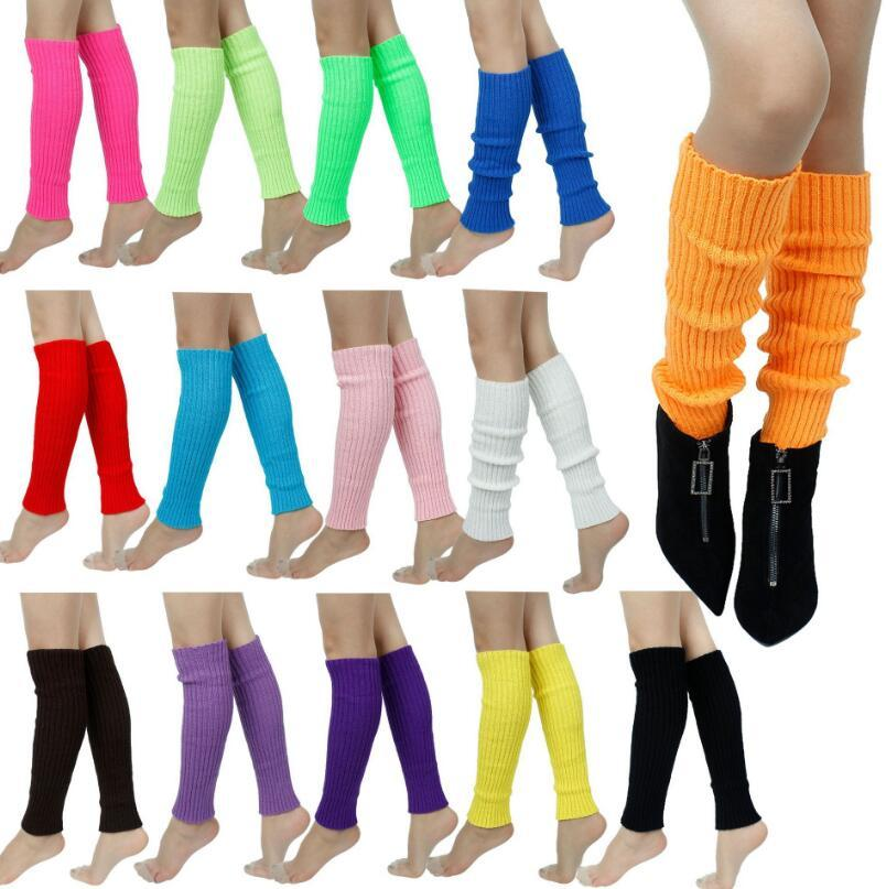 Nuovo Natale donne inverno caldo calzini gamba lunga scalda scarponi Crochet del Knit Knee Leg scalda scarponi polsini Boot Toppers