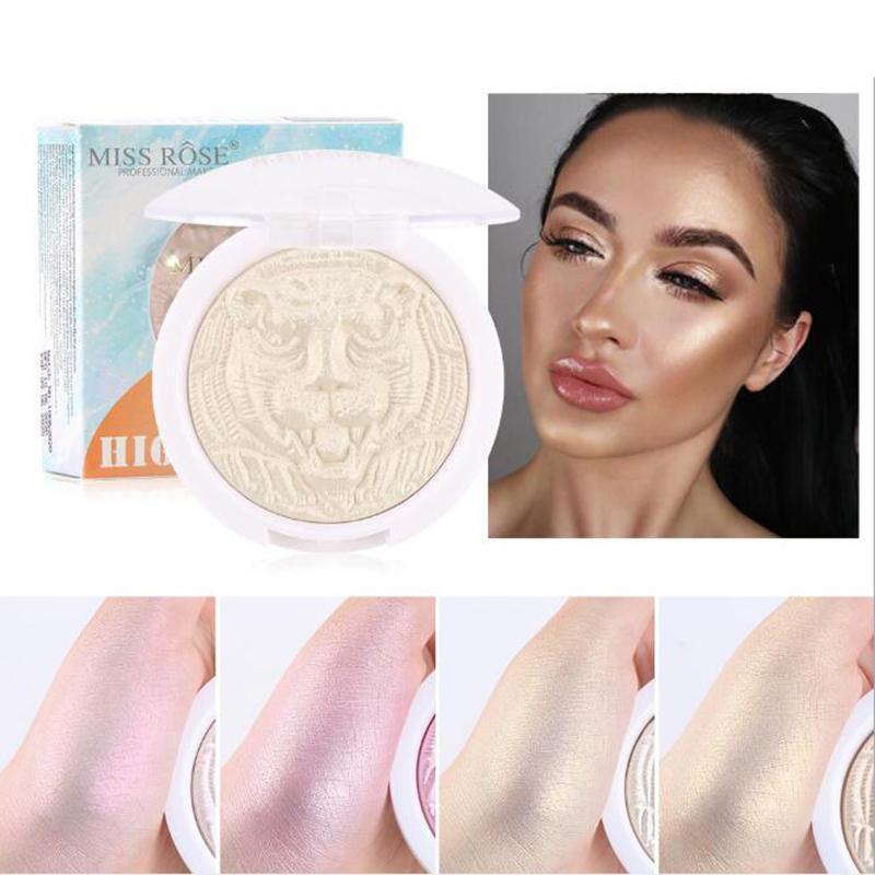 4 цвета Highlighter порошок Блеск палитра Макияж Glow Face Контур Shimmer осветитель Выделите Cosmetics